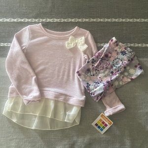 2T girls shirt and pants set